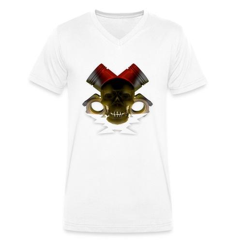 crane pistonné eclair - T-shirt bio col V Stanley & Stella Homme