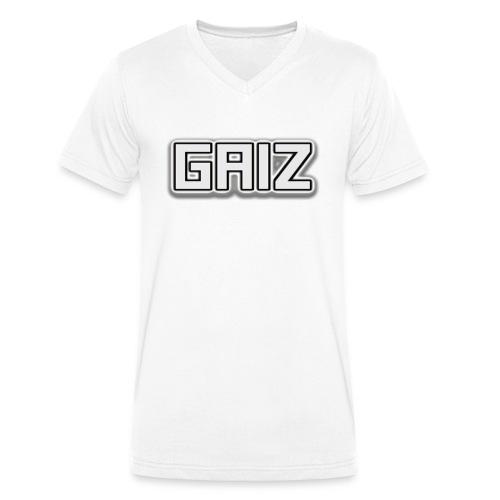 GAIZ-SENZA COLORE-BIANCO - T-shirt ecologica da uomo con scollo a V di Stanley & Stella