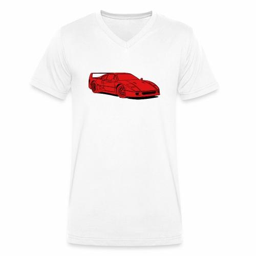 f40 red - Men's Organic V-Neck T-Shirt by Stanley & Stella