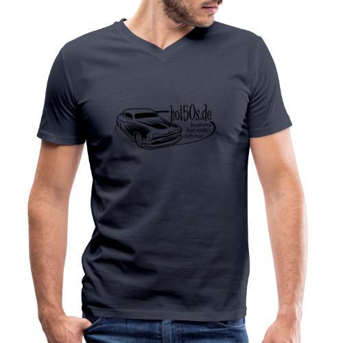 Hot50s Logo - Männer Bio-T-Shirt mit V-Ausschnitt von Stanley & Stella