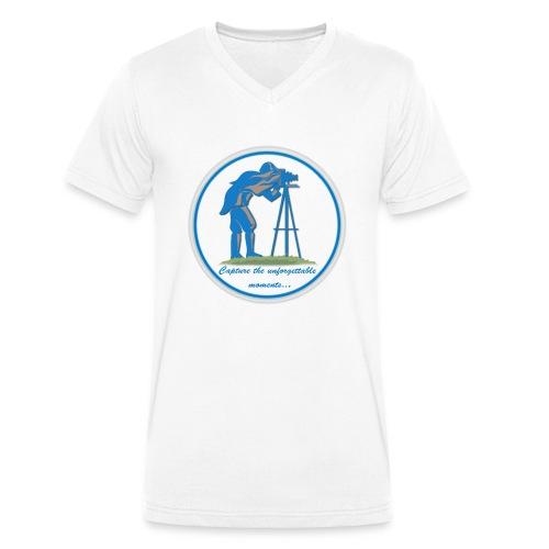 Logo Capture the Moment - Men's Organic V-Neck T-Shirt by Stanley & Stella