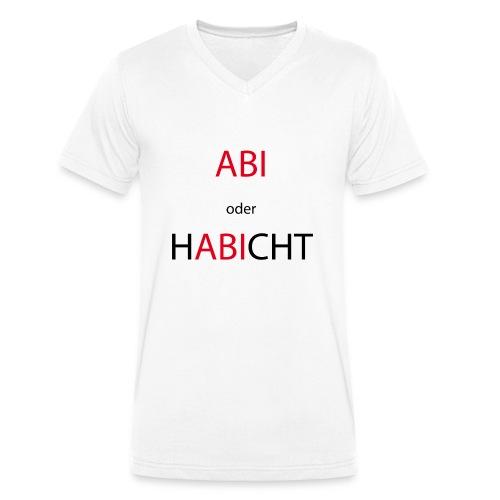 Abi oder Habicht - Männer Bio-T-Shirt mit V-Ausschnitt von Stanley & Stella