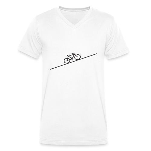bike_climb.png - Men's Organic V-Neck T-Shirt by Stanley & Stella