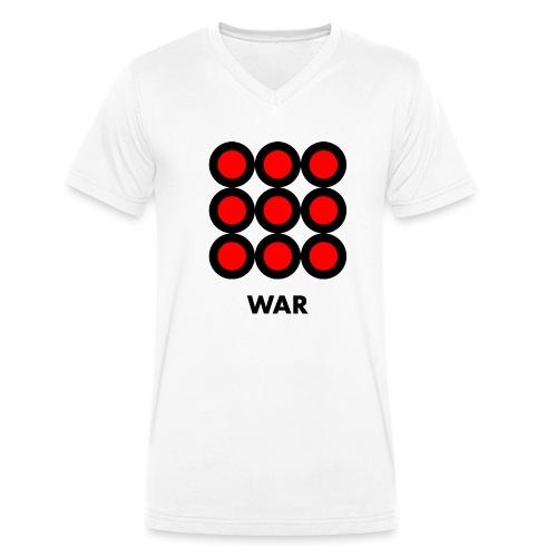 War - T-shirt ecologica da uomo con scollo a V di Stanley & Stella
