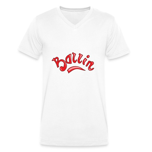 Ballin - Mannen bio T-shirt met V-hals van Stanley & Stella
