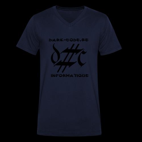 Dark-Code Black Gothic Logo - T-shirt bio col V Stanley & Stella Homme