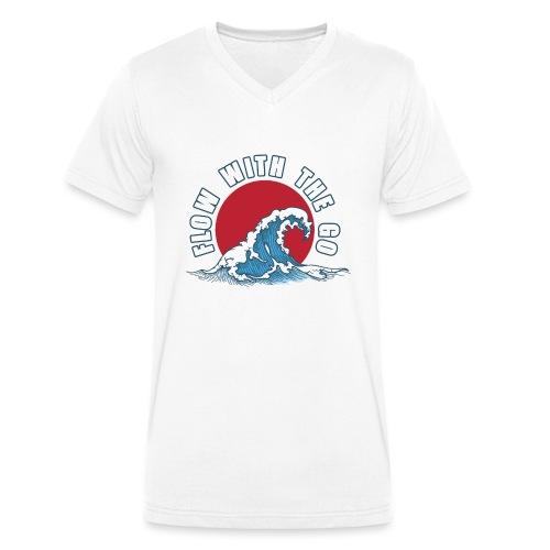 flow with the go - Ekologiczna koszulka męska z dekoltem w serek Stanley & Stella