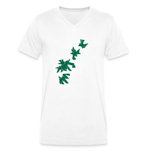 Green Leaves - Männer Bio-T-Shirt mit V-Ausschnitt von Stanley & Stella