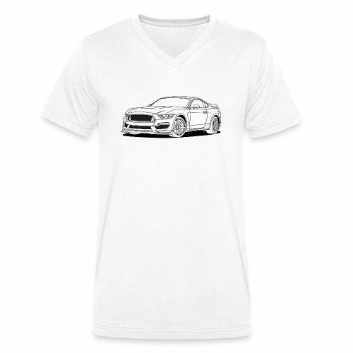 Cool Car White - Men's Organic V-Neck T-Shirt by Stanley & Stella