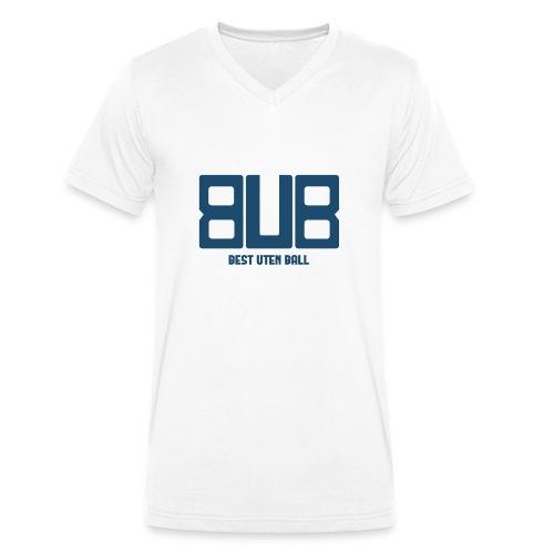 BUB - BLÅ - Økologisk T-skjorte med V-hals for menn fra Stanley & Stella