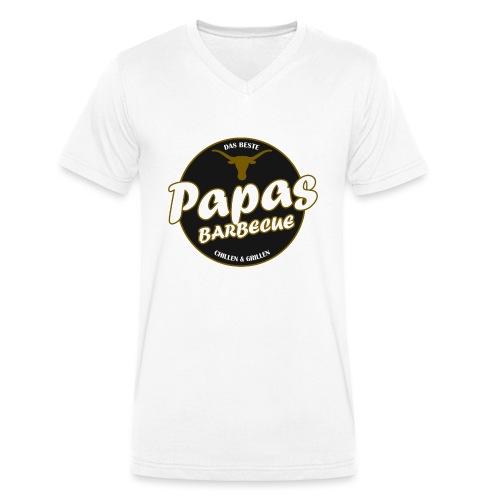 Papas Barbecue ist das Beste (Premium Shirt) - Männer Bio-T-Shirt mit V-Ausschnitt von Stanley & Stella