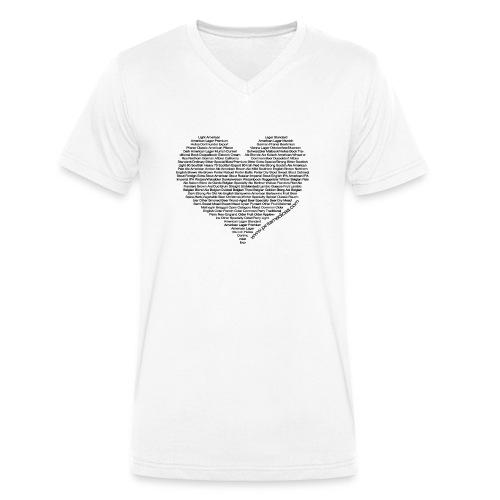 Cuore di birra woman - T-shirt ecologica da uomo con scollo a V di Stanley & Stella
