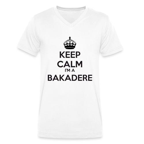 Bakadere keep calm - Men's Organic V-Neck T-Shirt by Stanley & Stella