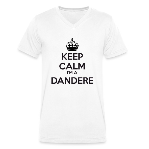 Dandere keep calm - Men's Organic V-Neck T-Shirt by Stanley & Stella