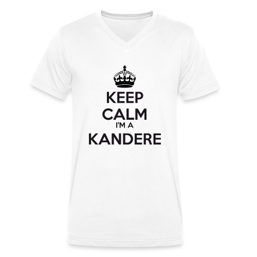 Kandere keep calm - Men's Organic V-Neck T-Shirt by Stanley & Stella