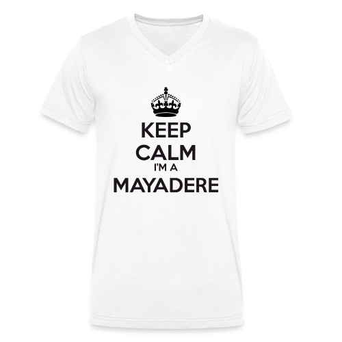 Mayadere keep calm - Men's Organic V-Neck T-Shirt by Stanley & Stella