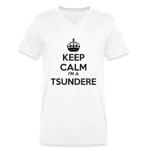 Tsundere keep calm - Men's Organic V-Neck T-Shirt by Stanley & Stella