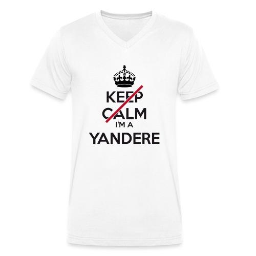 Yandere don't keep calm - Men's Organic V-Neck T-Shirt by Stanley & Stella