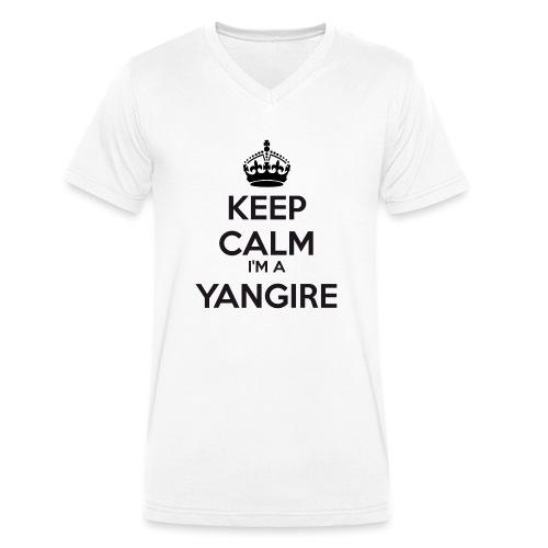 Yangire keep calm - Men's Organic V-Neck T-Shirt by Stanley & Stella