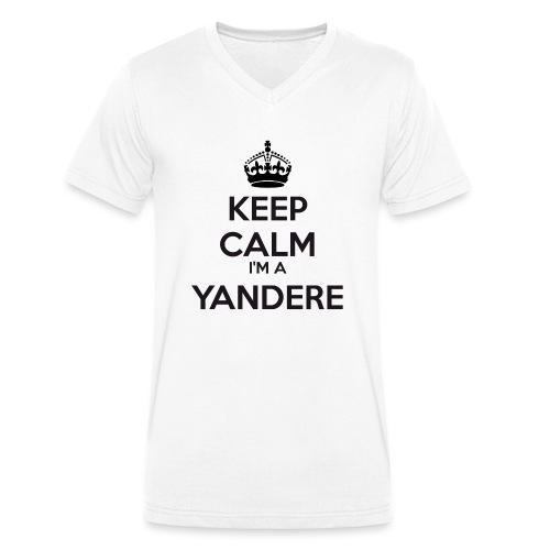 Yandere keep calm - Men's Organic V-Neck T-Shirt by Stanley & Stella