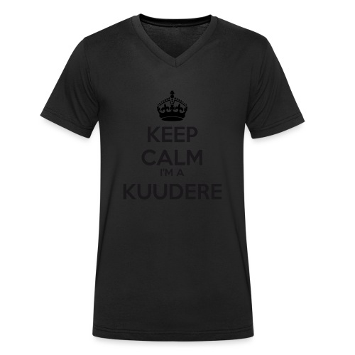Kuudere keep calm - Men's Organic V-Neck T-Shirt by Stanley & Stella