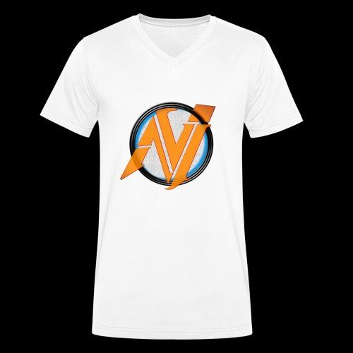 invi.rocks Logo - Männer Bio-T-Shirt mit V-Ausschnitt von Stanley & Stella