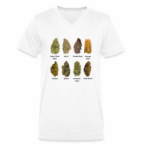 8 Buds of Mary Jane - Camiseta ecológica hombre con cuello de pico de Stanley & Stella