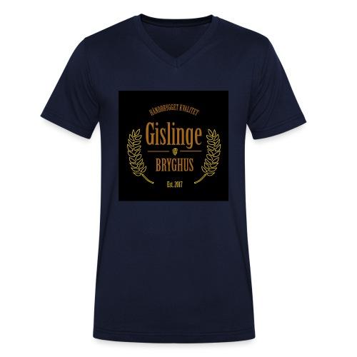 Sort logo 2017 - Økologisk Stanley & Stella T-shirt med V-udskæring til herrer