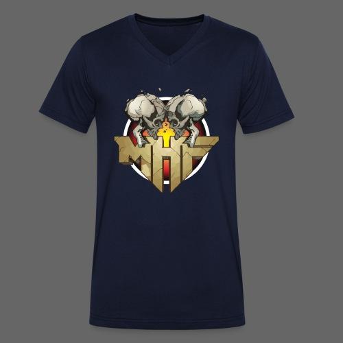 new mhf logo - Men's Organic V-Neck T-Shirt by Stanley & Stella
