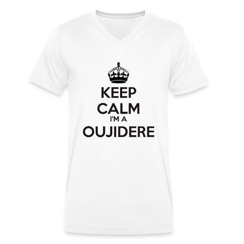 Oujidere keep calm - Men's Organic V-Neck T-Shirt by Stanley & Stella