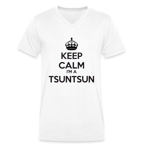 Tsuntsun keep calm - Men's Organic V-Neck T-Shirt by Stanley & Stella