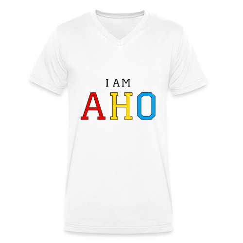 I am aho - Men's Organic V-Neck T-Shirt by Stanley & Stella