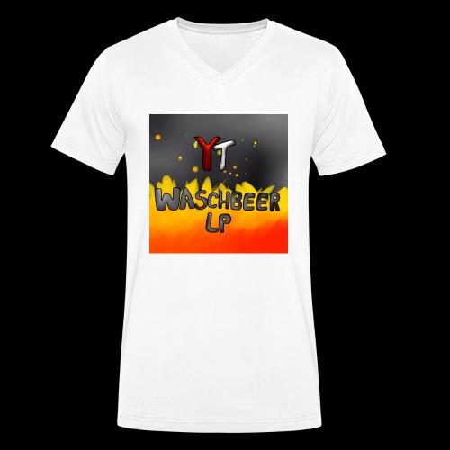 Waschbeer Design 2# Mit Flammen - Männer Bio-T-Shirt mit V-Ausschnitt von Stanley & Stella