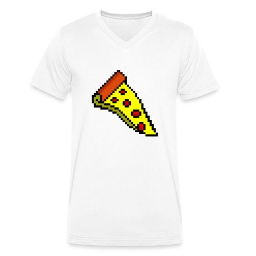 Pepperoni Pizza - Men's Organic V-Neck T-Shirt by Stanley & Stella