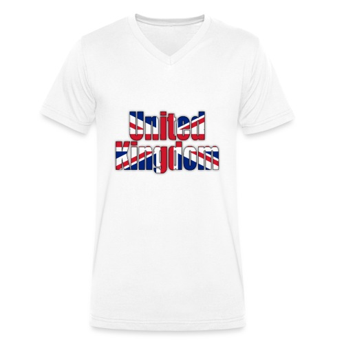 UK - Men's Organic V-Neck T-Shirt by Stanley & Stella