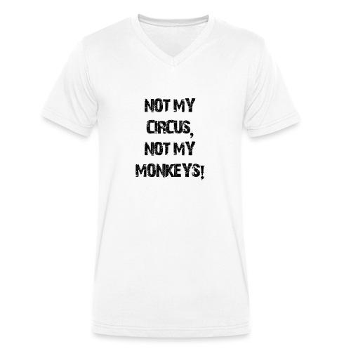 Not My Monkeys - Männer Bio-T-Shirt mit V-Ausschnitt von Stanley & Stella