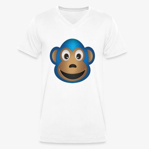 Affenbande Lemur - Männer Bio-T-Shirt mit V-Ausschnitt von Stanley & Stella