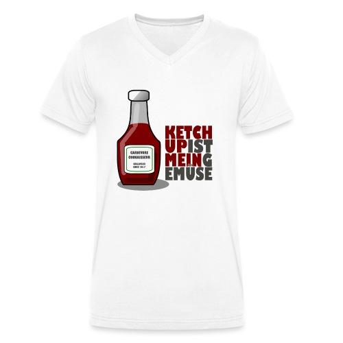 Ketchup ist mein Gemüse (Grillshirt) - Männer Bio-T-Shirt mit V-Ausschnitt von Stanley & Stella