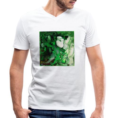 TIAN GREEN Mosaik DK017 - Hope - Männer Bio-T-Shirt mit V-Ausschnitt von Stanley & Stella