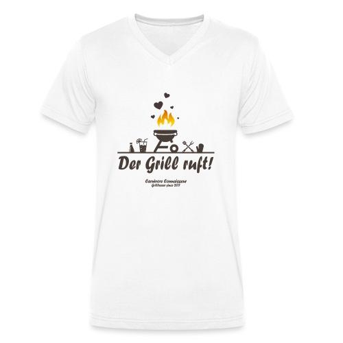 Der Grill ruft - Grillshirt - Männer Bio-T-Shirt mit V-Ausschnitt von Stanley & Stella