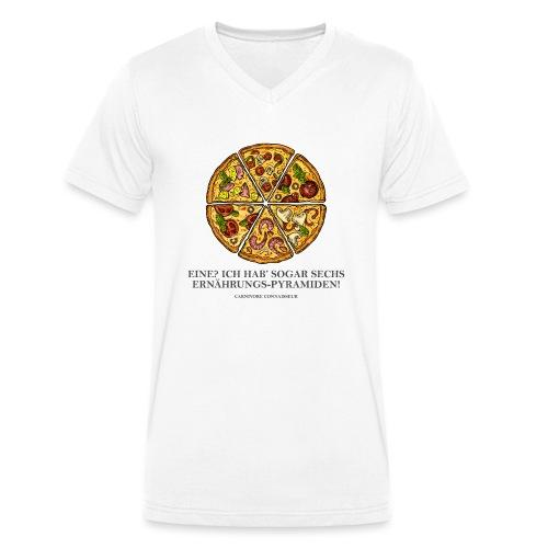Ernährungspyramide aus Pizza - Männer Bio-T-Shirt mit V-Ausschnitt von Stanley & Stella