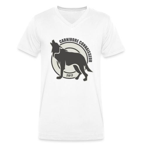 Fleischfresser - Grillshirt - Der mit dem Wolf heu - Männer Bio-T-Shirt mit V-Ausschnitt von Stanley & Stella