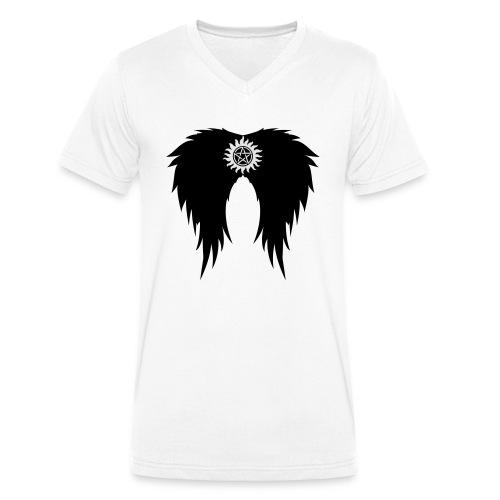 Supernatural wings (vector) Hoodies & Sweatshirts - Men's Organic V-Neck T-Shirt by Stanley & Stella