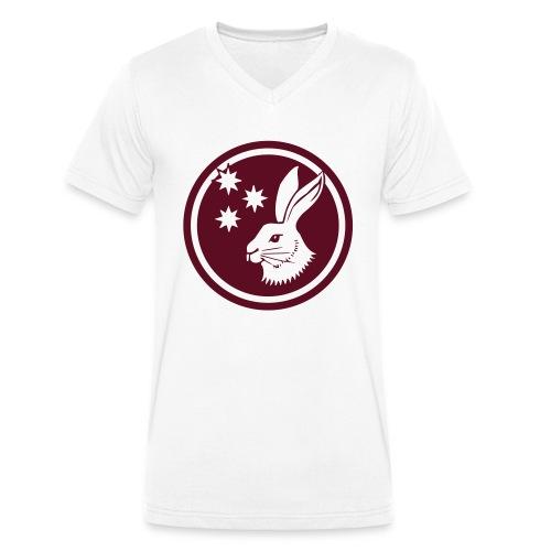 Reilinger Hase im Kreis - Männer Bio-T-Shirt mit V-Ausschnitt von Stanley & Stella
