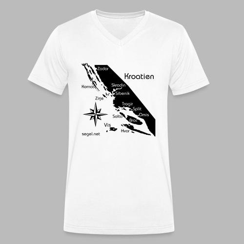 Crewshirt Urlaub Motiv Kroatien - Männer Bio-T-Shirt mit V-Ausschnitt von Stanley & Stella