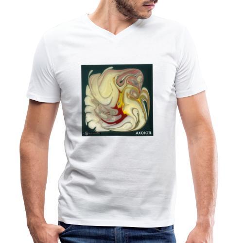 TIAN GREEN Mosaik DE114 - Axolotl - Männer Bio-T-Shirt mit V-Ausschnitt von Stanley & Stella