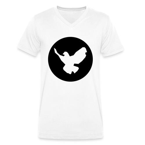 Friedenstaube - Männer Bio-T-Shirt mit V-Ausschnitt von Stanley & Stella