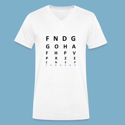Fundago Label Motiv - Männer Bio-T-Shirt mit V-Ausschnitt von Stanley & Stella