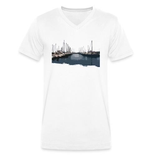 Schiffe - Männer Bio-T-Shirt mit V-Ausschnitt von Stanley & Stella