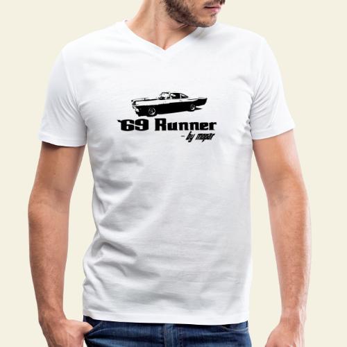 roadrunner 69 - Økologisk Stanley & Stella T-shirt med V-udskæring til herrer